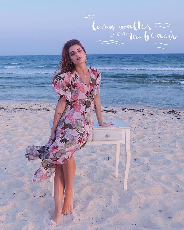 • long walks on the beach • . . . . . #fashionbloggers #petitejoys #mango #beach #summer #summerwedding #whatiwore #aboutalook #florals #summerstyle
