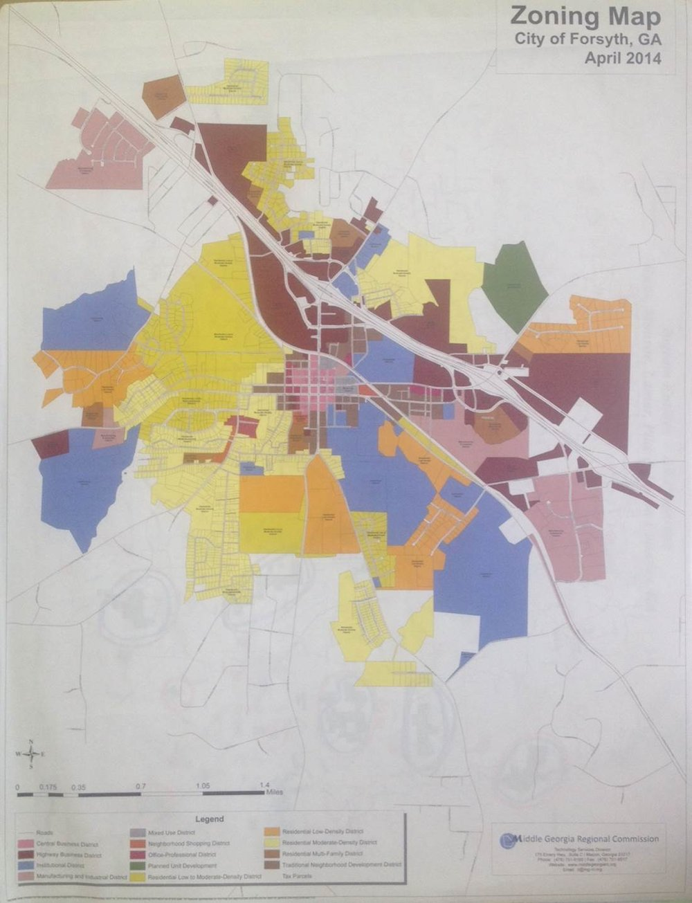 Monroe County Tax Map showing adjoining property owners.