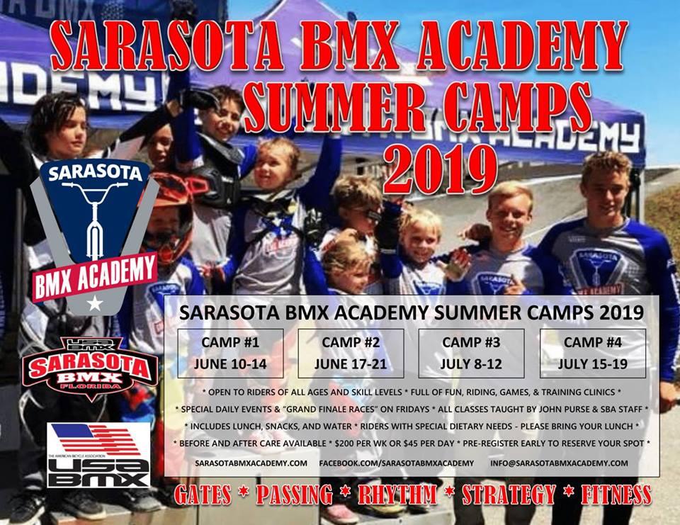 Sarasota BMX Academy Summer Camp 2019