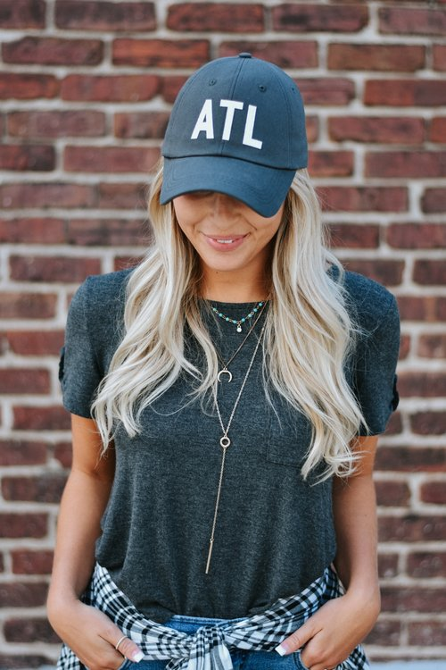 08524142cf9 Grey ATL Hat — The Merchant Atlanta