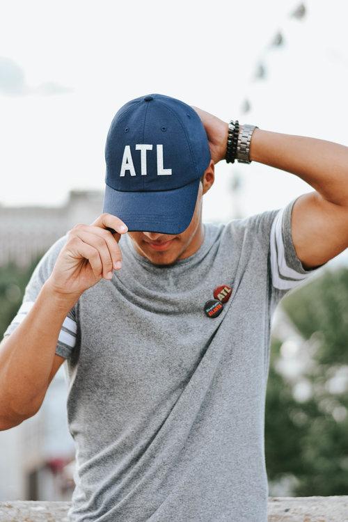 d8752549837 Navy ATL Hat — The Merchant Atlanta