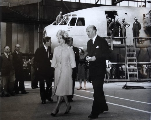 GRE shows Princess Margaret around Brooklands, Weybridge