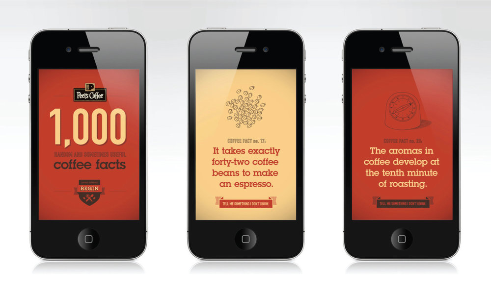 '1,000 Coffee Facts' Mobile Site