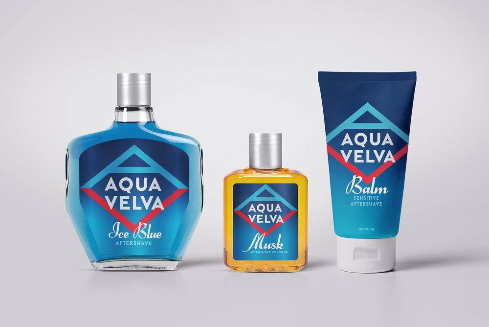 Redesigned Aqua Velva Bottles