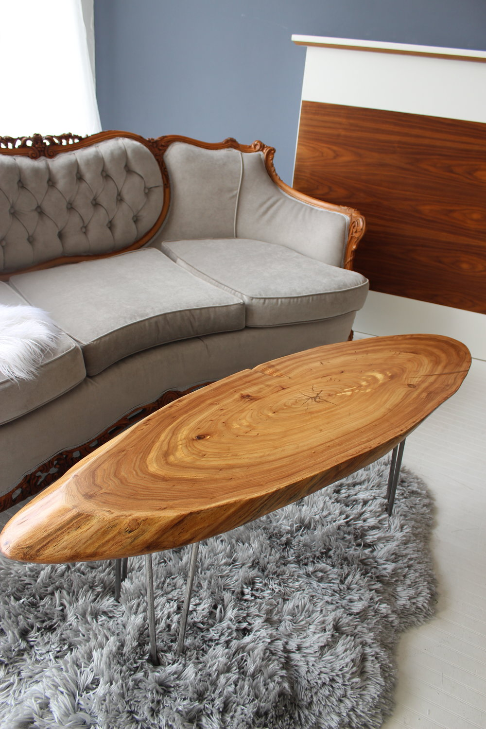 ELLIPSE, coffee and sofa tables - Available in rich Walnut and Siberian Elm