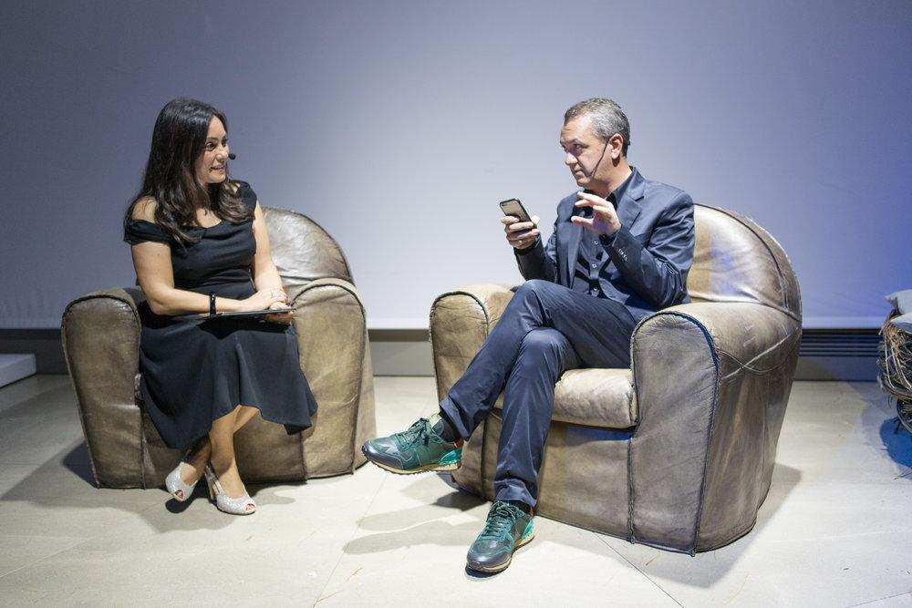 Antonella Di Lazzaro ,direttore media di  Twitter Italia ;  Luca Dini ,direttore di  Vanity Fair