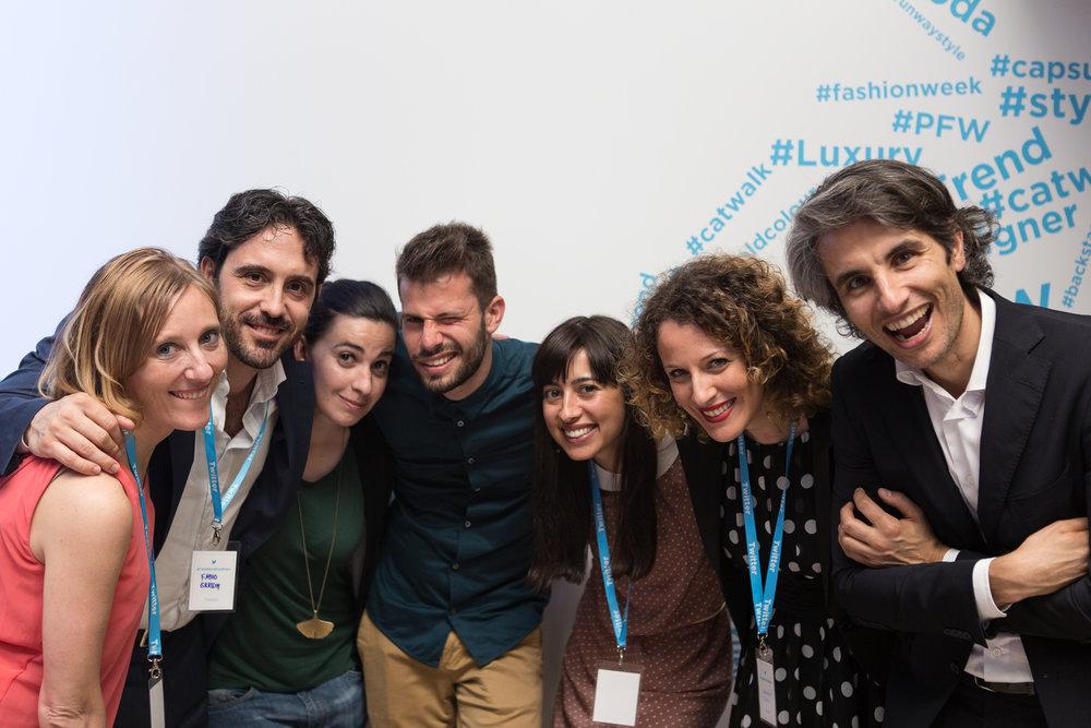 Elena Ianni e parte del team  Twitter Italia