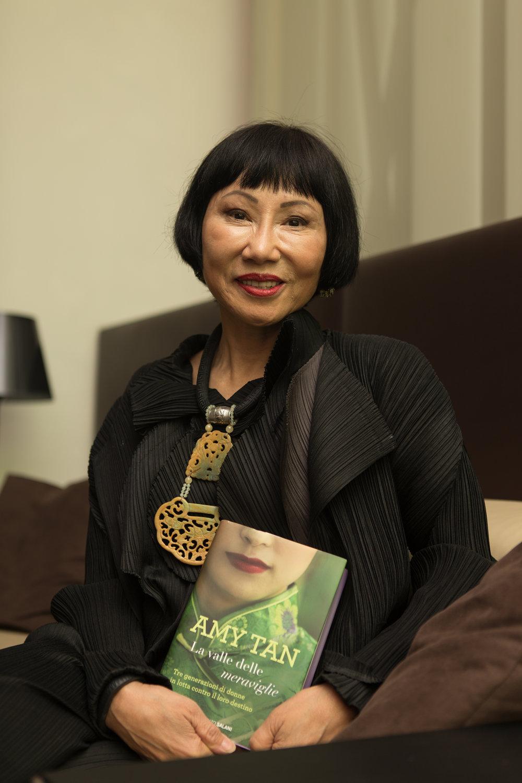La scrittrice  Amy Tan