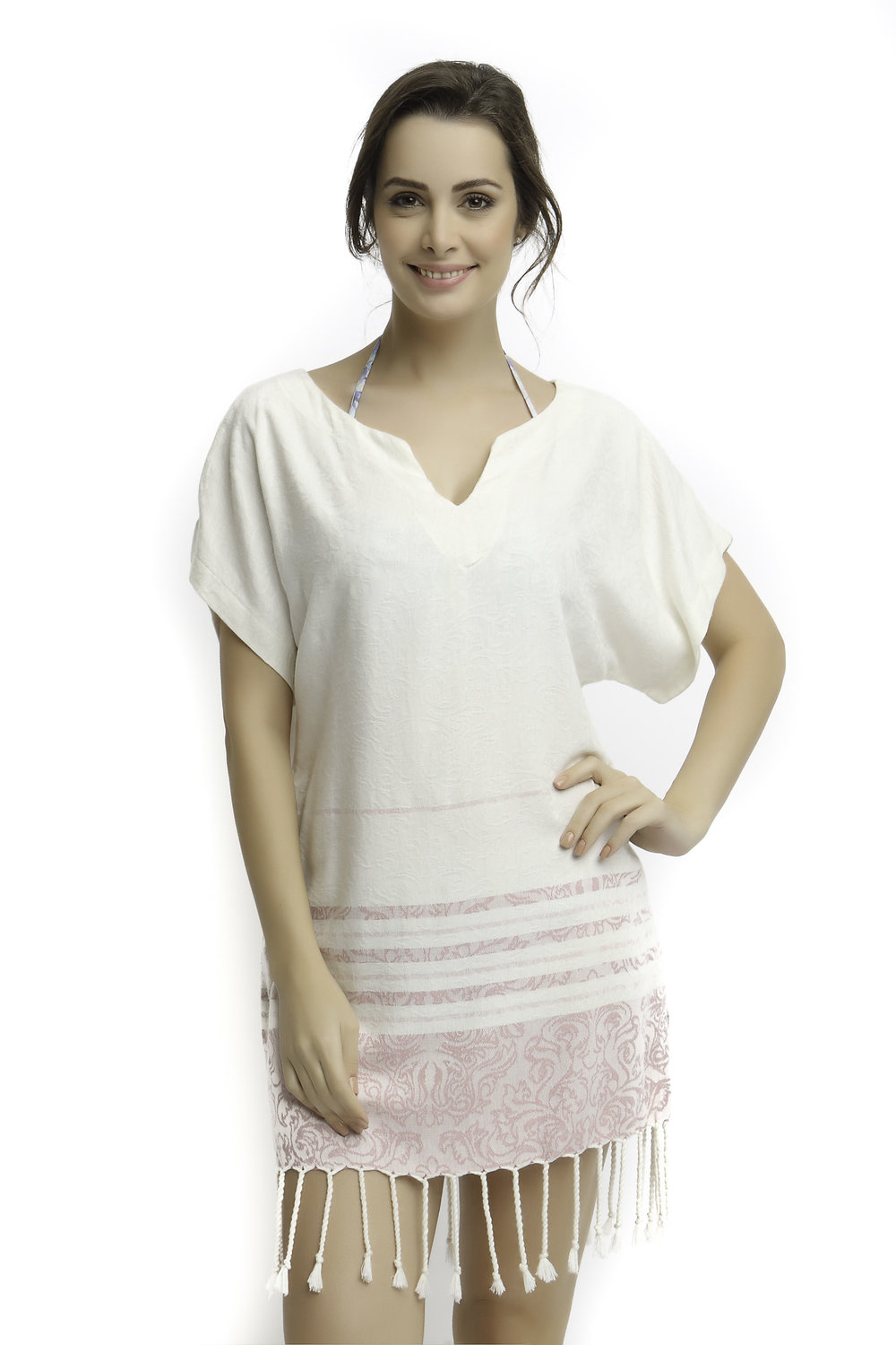 d71fb0f39c Fancy Pink Tunic / Beach Cover-Up — Begonville®