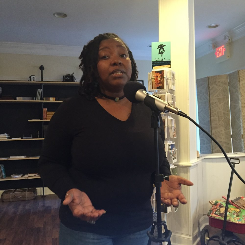 "Ashley Cuffee, the poet known as Ash'iz, performs her spoken word poem, ""The Poet Unknown"" for Stephanie and Tony just before her podcast. It was phenomenal and inspiring. Listen to it in the reading link above!"