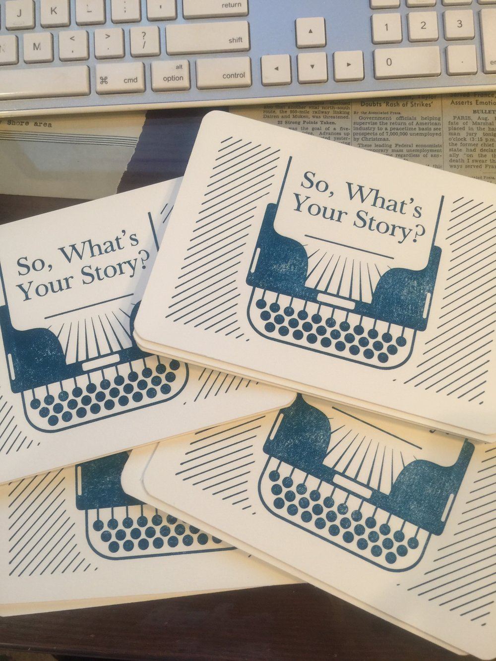 We'll write you poetry, put it on a beautiful letterpress postcard, slap a stamp on it, and get it delivered right to your door.