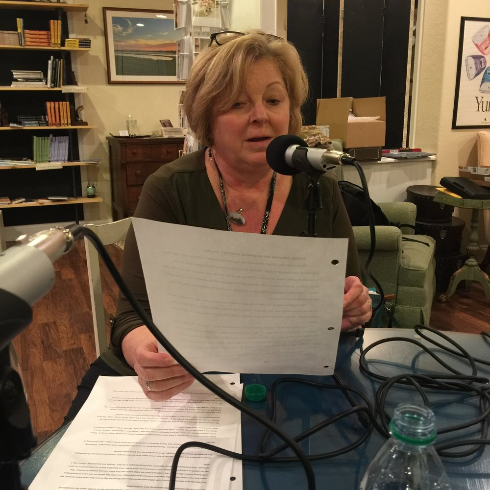"Joan reads from her piece, ""Cakes, Pies, and Fancy French Pastries."" Click the audio link!"