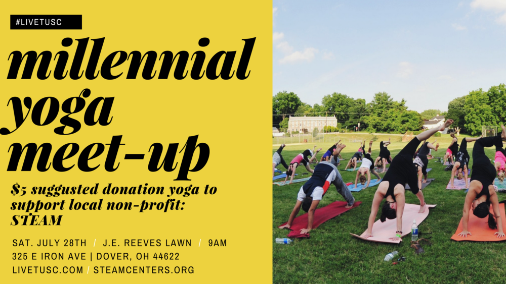 #livetusc will be meeting up at J.E. Reeves Victorian Home on the side lawn for a gentle yoga flow! We are asking participates for a $5 donation. All proceeds will go to STEAM-- a local non-profit that provides a free children's pop-up museum that faciliates learning in science, technology, engineering, art, and music.
