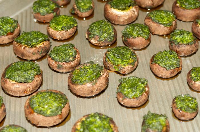 Mushroom Pesto bites