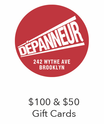 Depanneur in Williamsburg carries a collection of local, delicious, and innovative products from Brooklyn, NY state and around the world as well as sandwiches made with the highest quality ingredients sourced locally whenever possible and coffee beverages made with Toby's Estate beans and farm fresh milk.