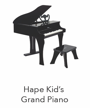 Budding concert pianists will easily scale the 30 keys of this colorful wood grand piano made by Hape.Made for small hands and big sounds.