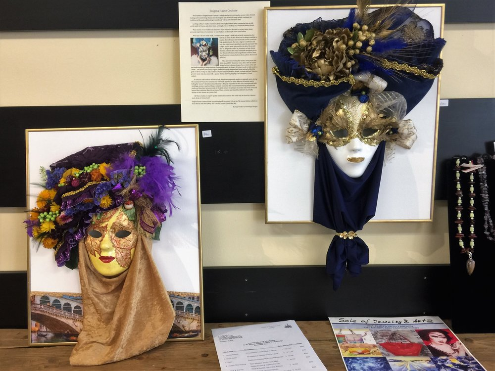Venetian masks made by Nina Bublik