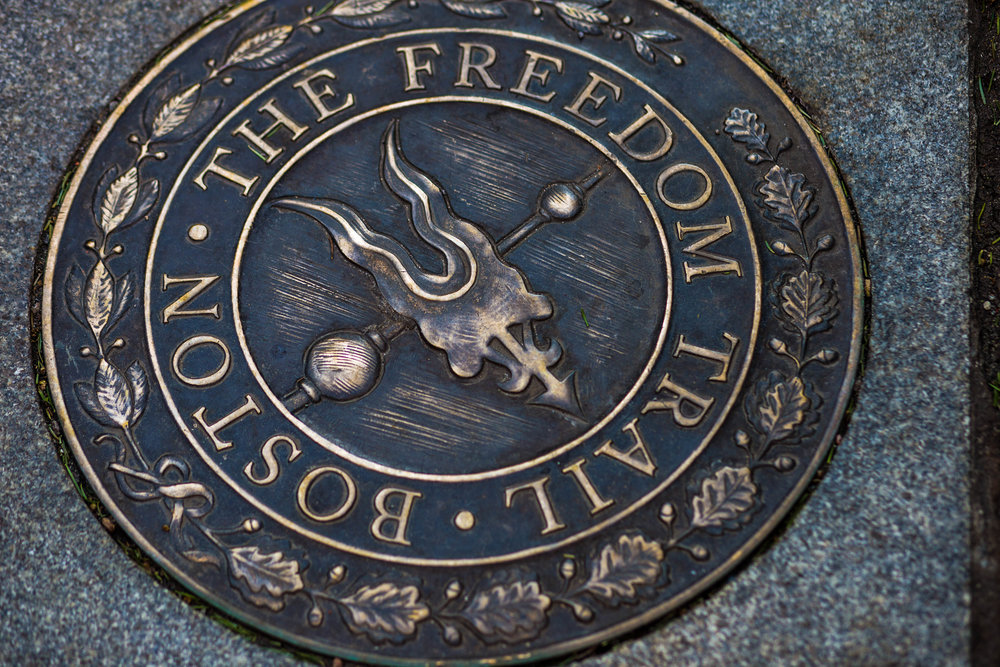 Jacob Fortgang/ Pictured: A plack for the Freedom Trail points the way to The Old North Church