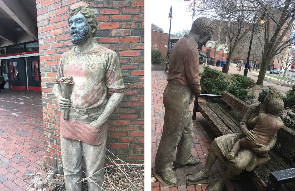 Joanna Hayes  Statues throughout Davis Square that are part of an art project based on real residents of Davis.