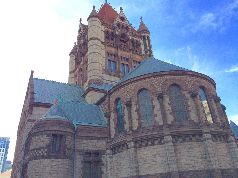 Trinity Church, located in Copley Square, is one of the many churches in Back Bay.  Credit: Max Winter