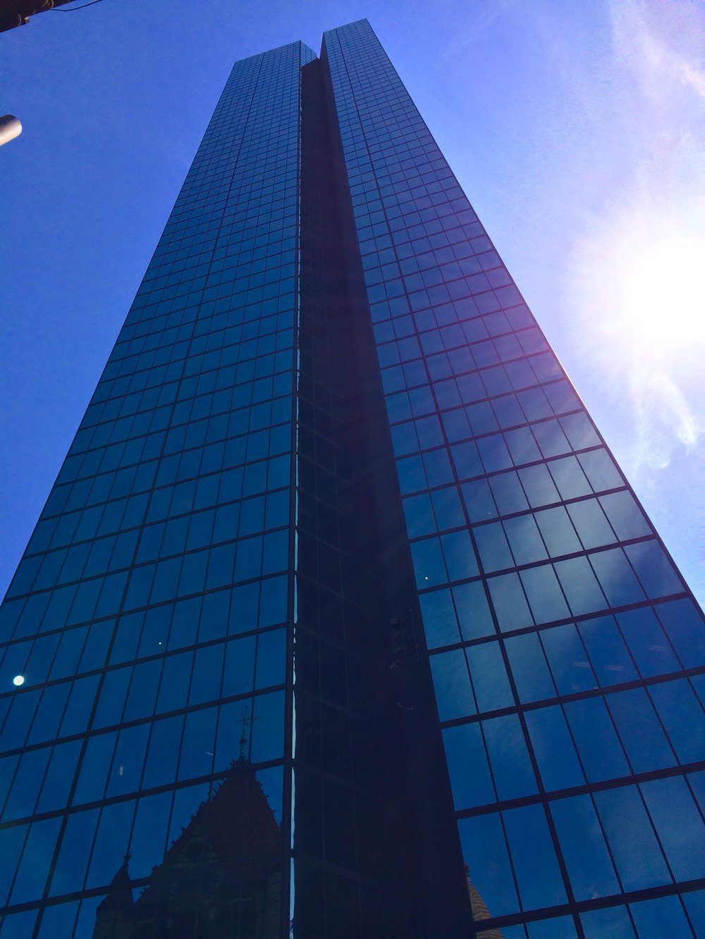 Formerly known as the John Hancock Tower, 200 Clarendon Street is the tallest building in Copley Square.  Credit: Max Winter