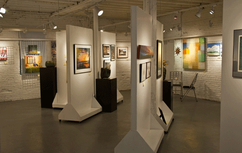 A peek inside the AGC gallery on Medford street.   Image taken from http://artistsgroupofcharlestown.com/gallery.html