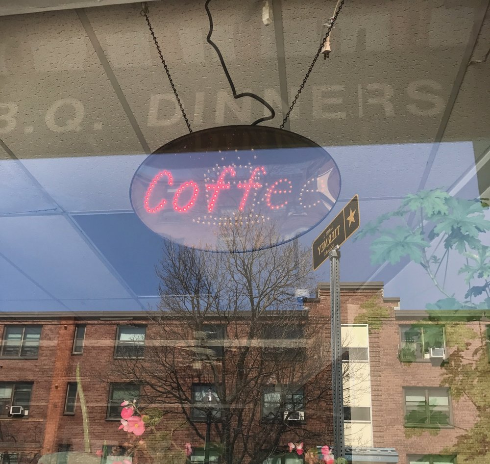 Charlestown coffee shop florescent sign