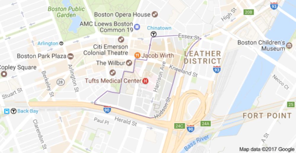 credit: Map Data 2017 Google