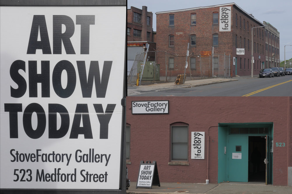 Exteriors of the StoveFactory Gallery, located at 523 Medford Street, the headquarters of the Artists Group of Charlestown and the location of Carol's studio.