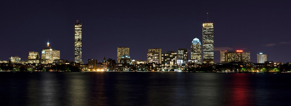Back Bay as seen from the Charles River. The Prudential Tower still stands tall. Photo Courtesy of Wikimedia Commons.