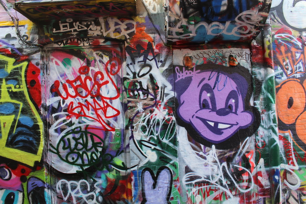 Graffiti Alley. Photo by Lily Hennessy.