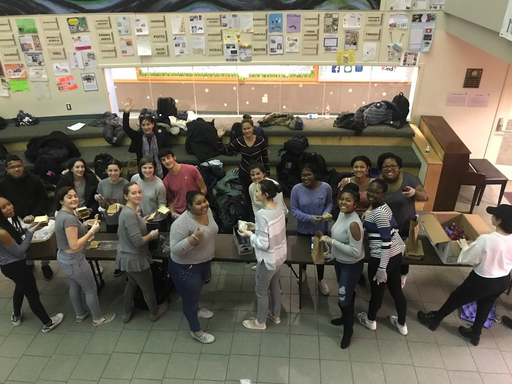 Service-Learning Team 2nd Trimester 2018 NY Common Pantry Sandwich-Making