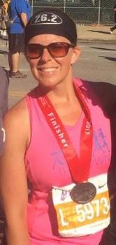 Becky @ Chicago Marathon, 40+ min PR!