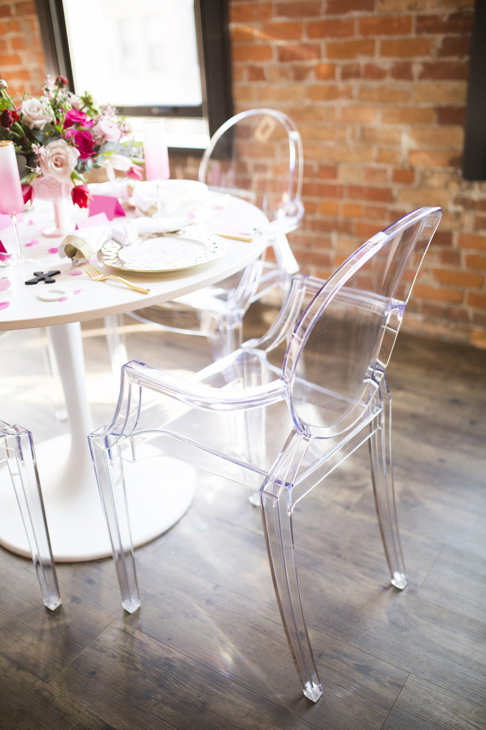 Ghost chairs are my go-to choice when trying to add a modern touch to any event!