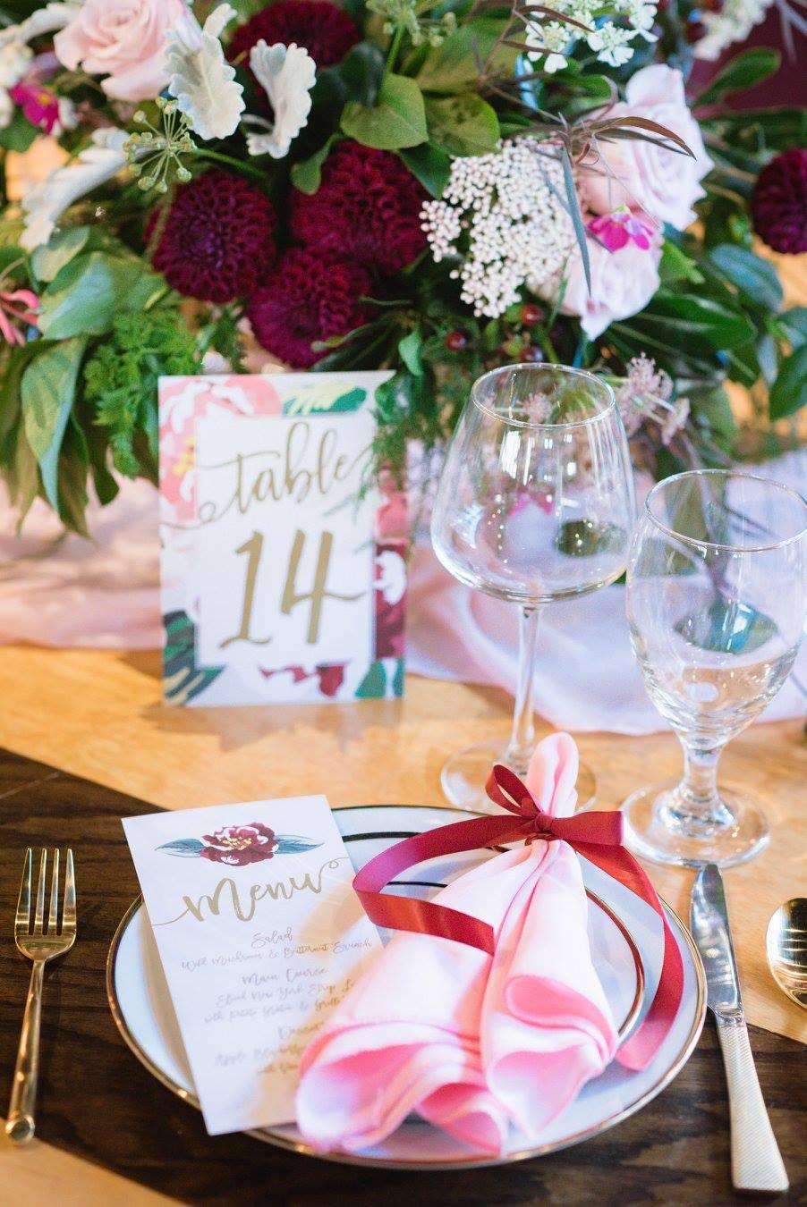 A Blush & Burgundy Wine Bar Soiree by Event Prep