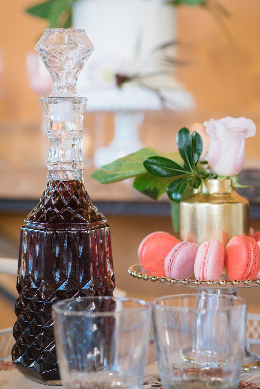 A Blush & Burgundy Wine Bar Soirée - Perfect for a Fall Wedding!