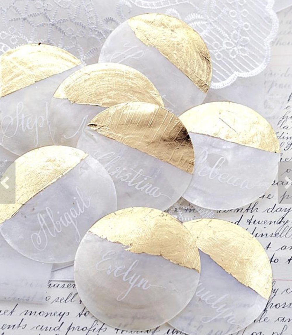 Capiz Shell Place Cards