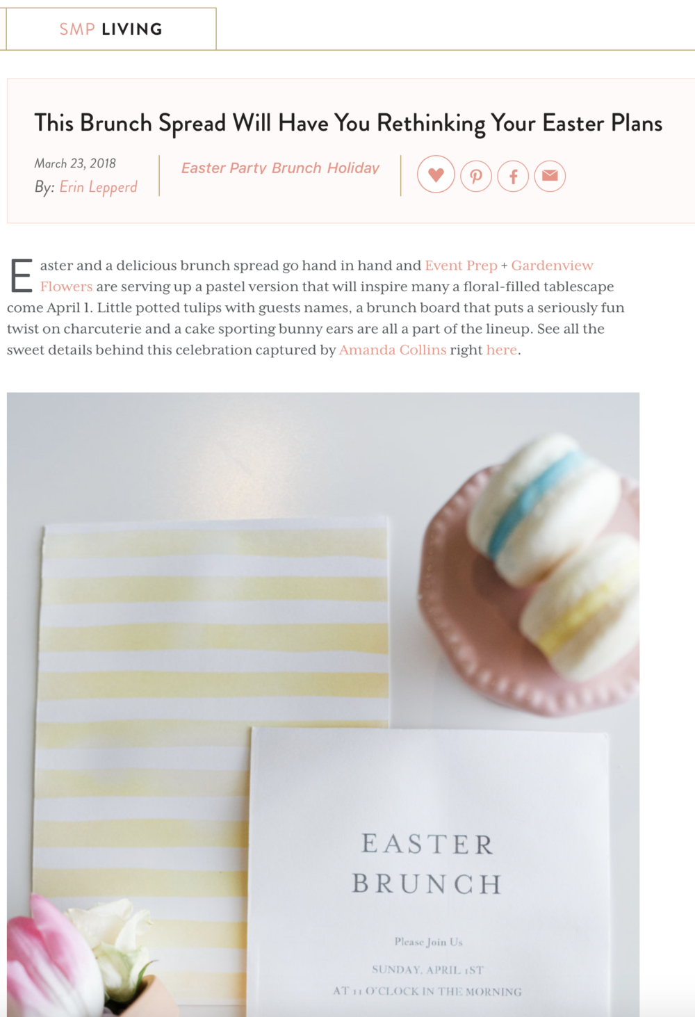 Easter Brunch Ideas as Seen on Style Me Pretty Living