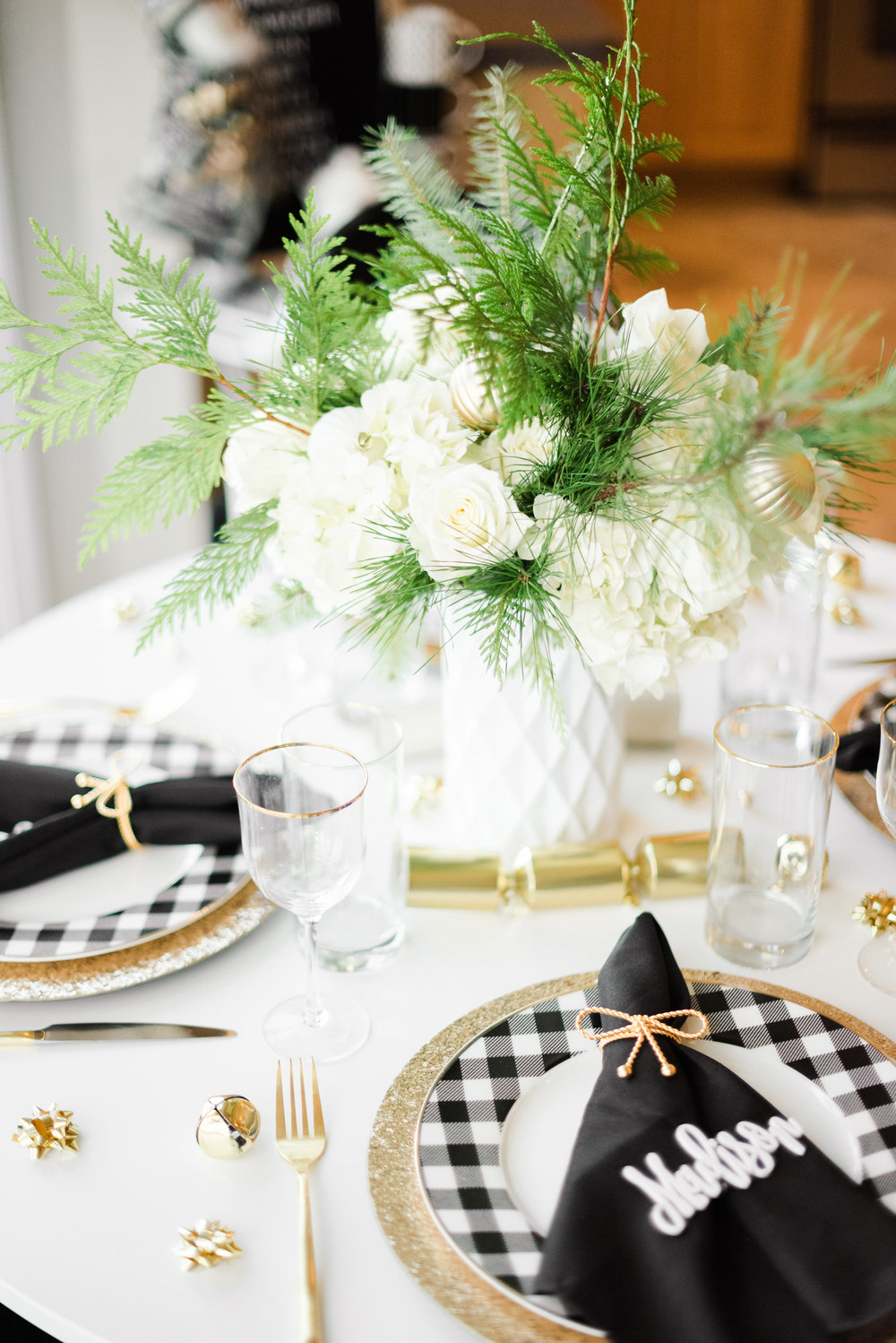 Glam Black & White Christmas & Holiday Inspiration. Styled by Cassandra Clair of Event Prep