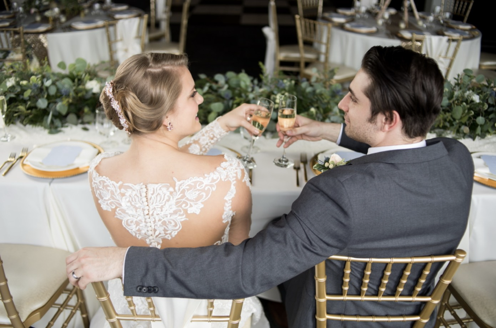 An Industrial Chic Wedding Featured on Glittery Bride with Event Prep and Galati Photography