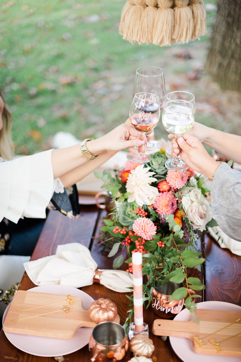 Feminine Friendsgiving and Wine Tasting Celebration by Event Prep Photographer by Amanda Collins Photography