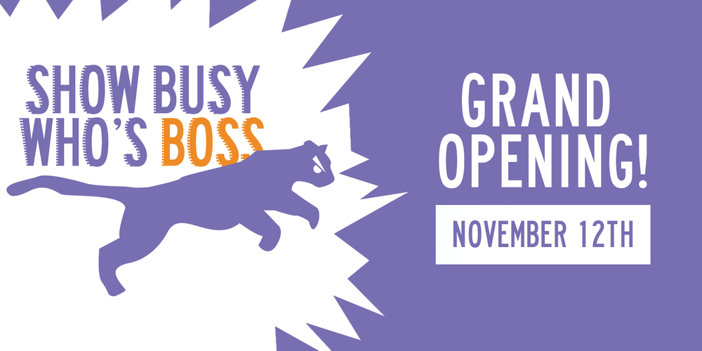 Show Busy Who's Boss Grand Opening Long Lean Mean