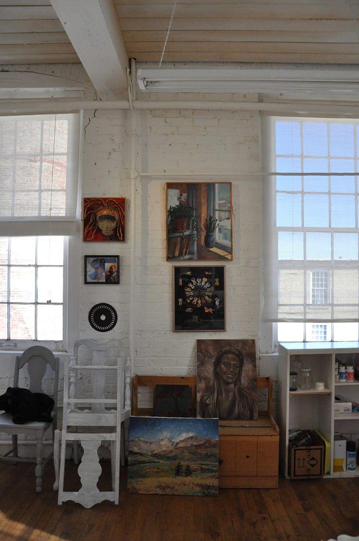 Sunny spot in Maria's studio