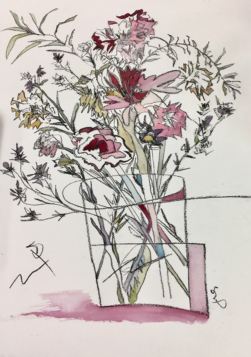Juli Janovicz - Studio 3597 - 3rd FloorWatercolor, pencil, crayon, acrylic, etc.Expressive botanical watercolor paintingsI am fascinated by precise botanical drawing and its expressive counterpart. Flowers have a language. I use watercolor or acrylic paint and make marks with a variety of medium: charcoal, graphite, crayon and colored pencils to translate the language of flowers to paper. My botanical paintings are my interpretation of what is seen and what can't be explained. That every viewer interprets paintings differently continues to be one of the inexplicable mysteries of art.Instagram: @julijanovicz
