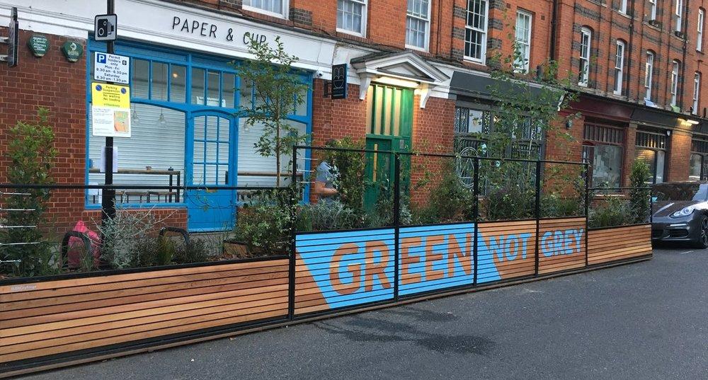 parklet urban greening