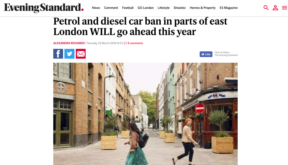 Hackney and Islington Council are banning petrol and diesel cars on nine roads Hackney Council