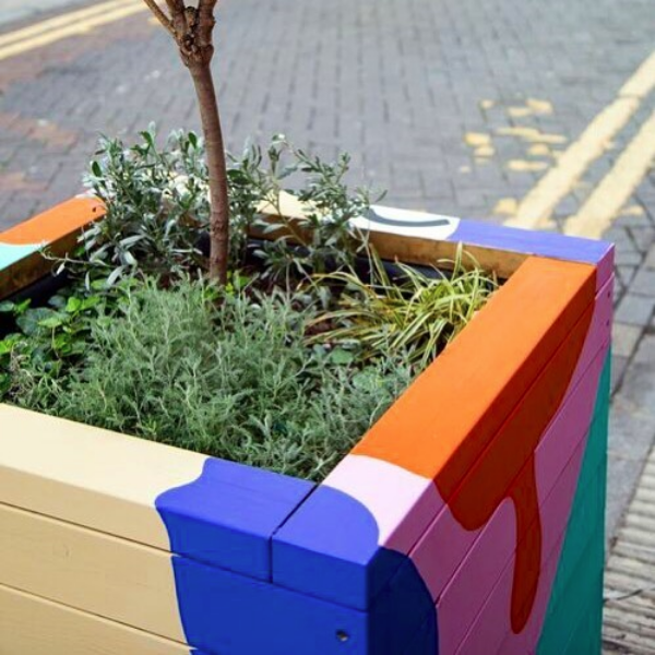 Rivington Street Painted Planters 3