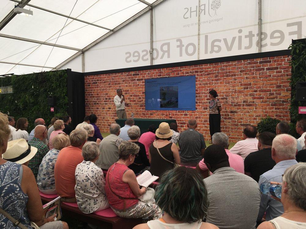 RHS Hampton Court Flower Show Living Wall Presentation