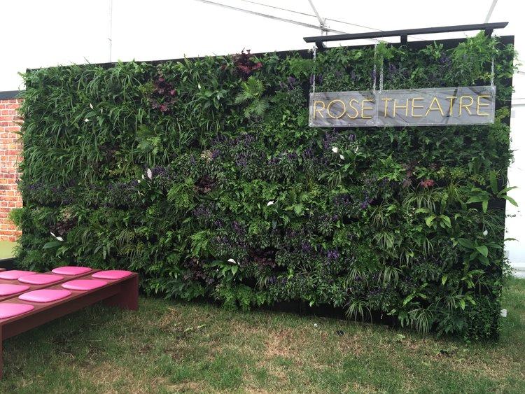 RHS Hampton Court Flower Show Living Wall Rose Theatre