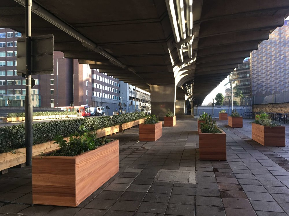 Hammersmith & Fulham Flyover Planters and Greening